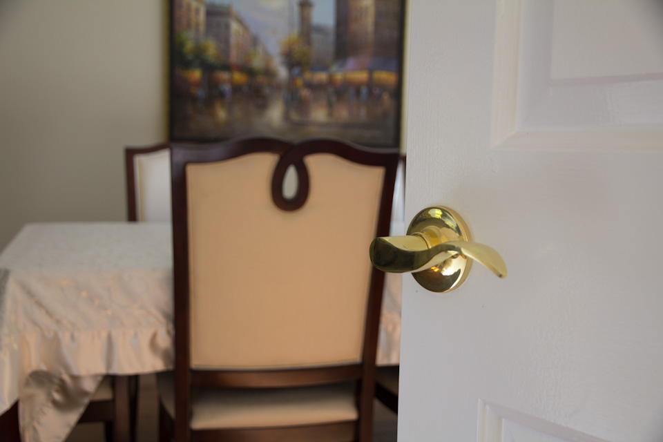 Classic design ideas with gold door levers in toronto for Dining room useless
