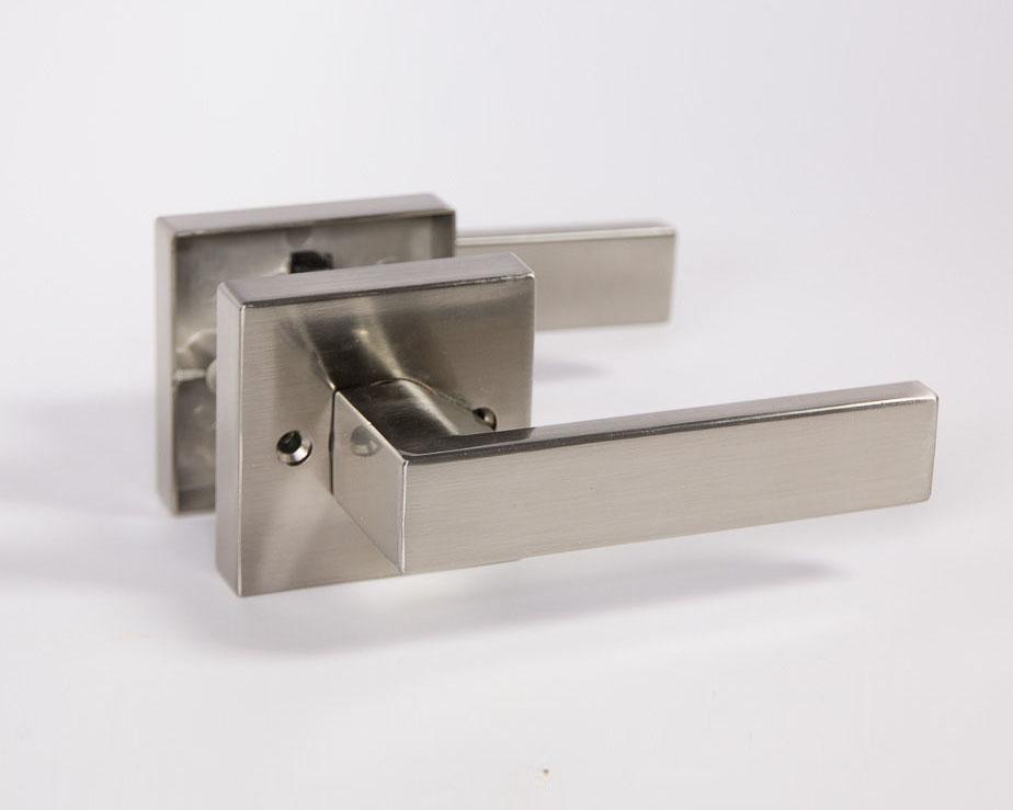 Modern square door handle set toronto door hardware - Contemporary interior door levers ...