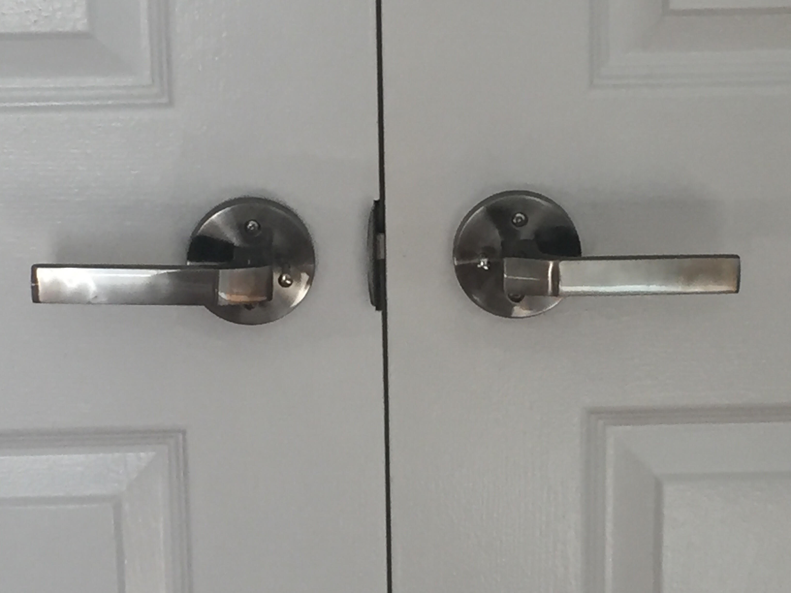 Polar interior door handle lever set round rose push button polished nickel toronto door - Contemporary interior door knobs ...