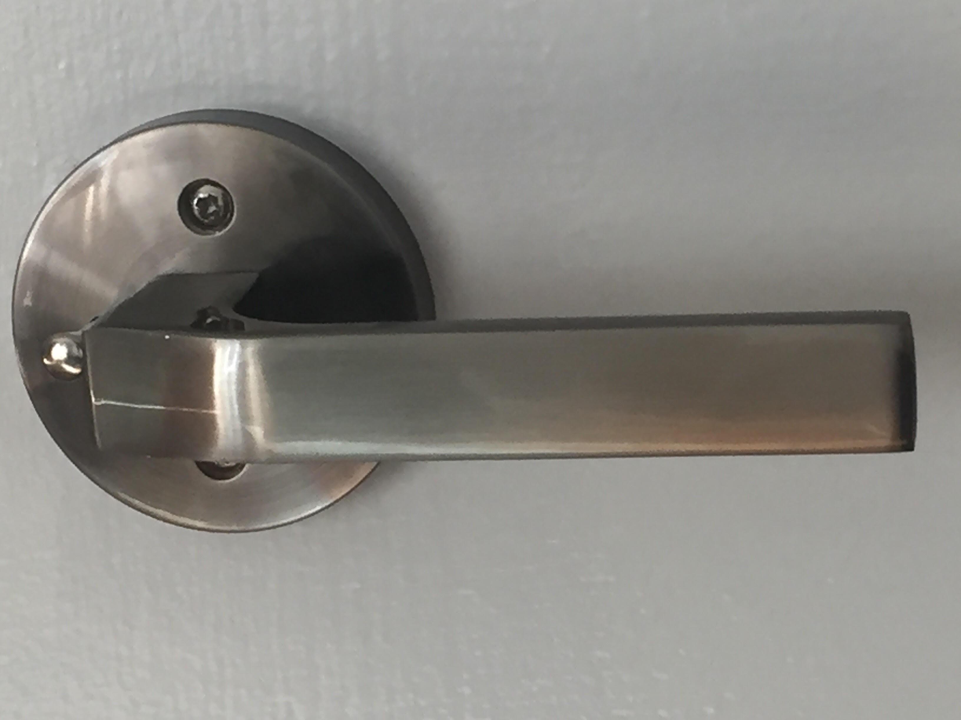 Modern interior door handle set round rose push button - Contemporary interior door levers ...