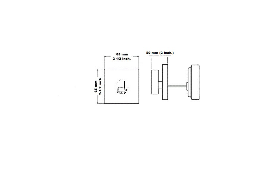 Deadbolt square shape