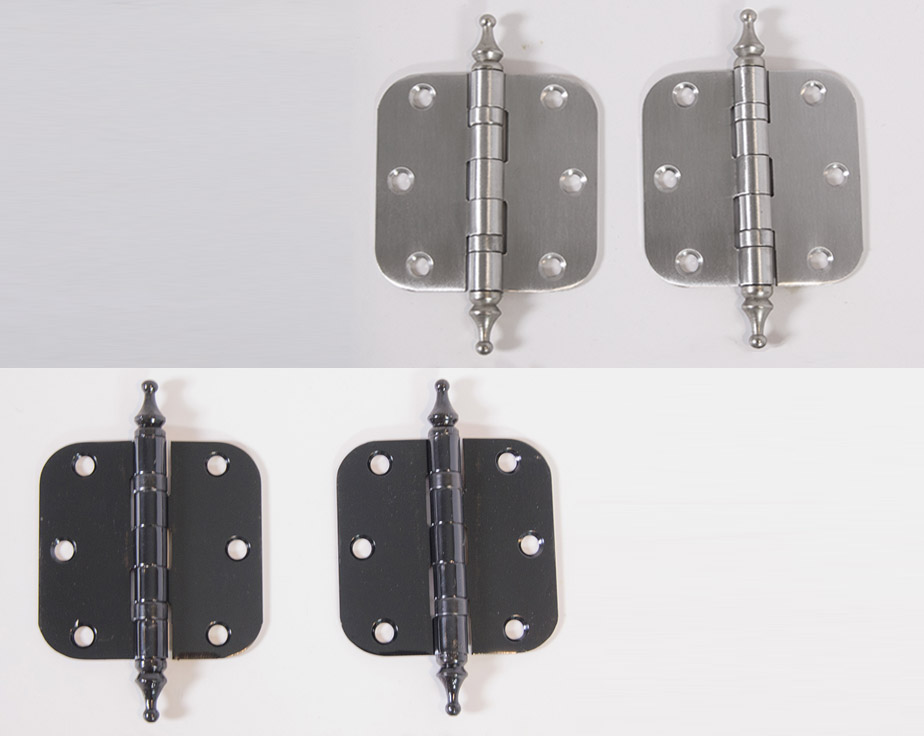 Ball Bearing Interior Door Hinge With Steeple Tip Round Cut Out Box Of 2 3 In X 3 In