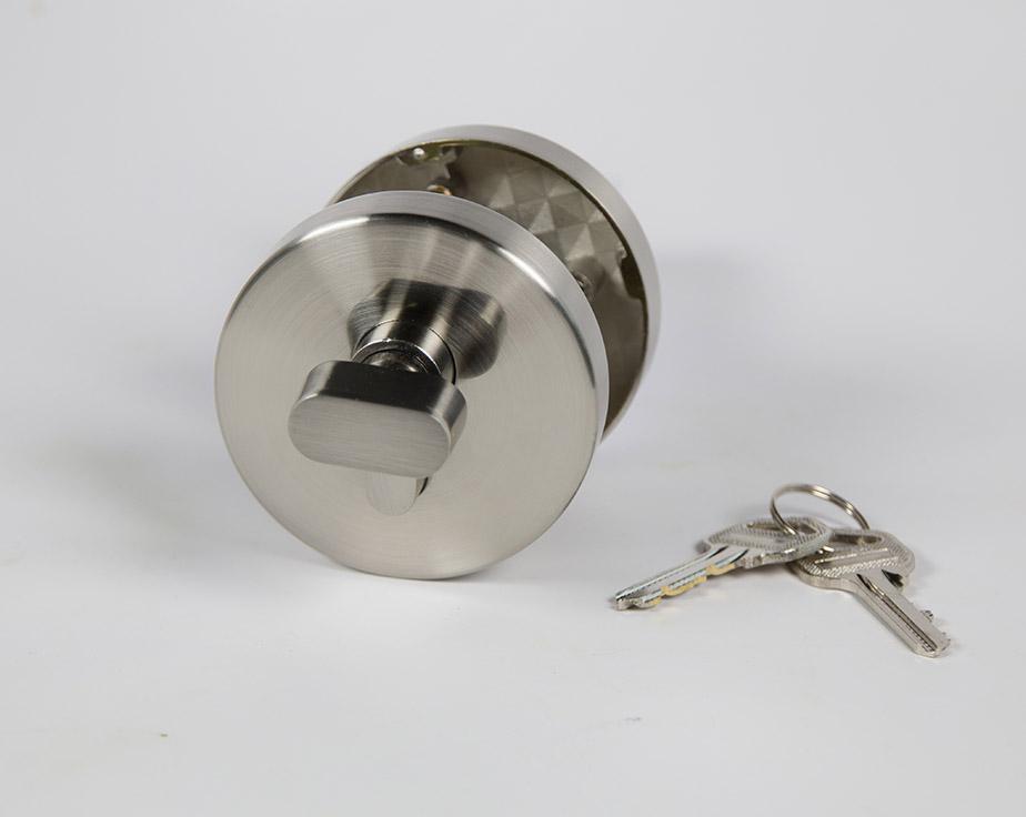 Modern residential single cylinder round deadbolt - Exterior door handles and deadbolts ...