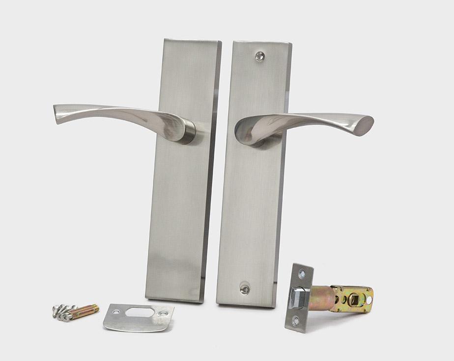 square-plate-curve-lever-silver-left-passage