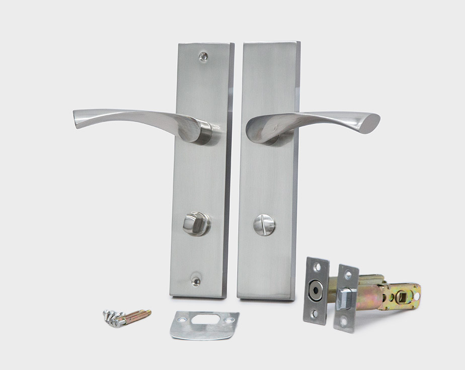square-plate-curved-lever-satin-nickel-right-privacy