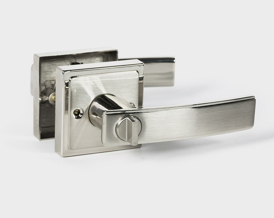 Holland Square Handle Door Lever Lock Set Modern Style