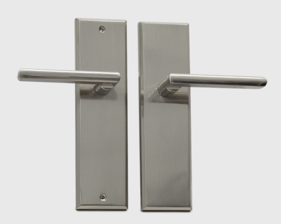 Halifax Modern Long Backplate Door Handle Lever Lock Set